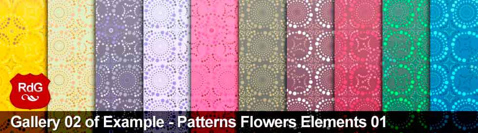 Flowers Elements 01 Patterns