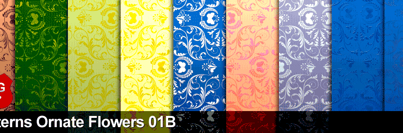 Patterns Ornate Flowers 01B