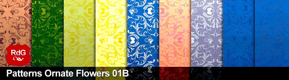 Patterns Ornate Flowers 01B – free photoshop pattern