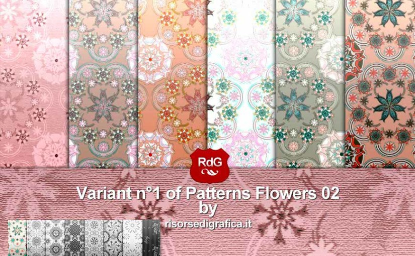6 Patterns Flowers 02 Variant n°1
