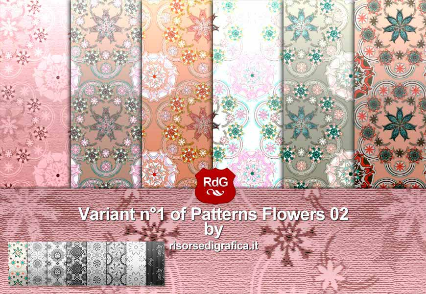6 Flower Pattern 02 v.1 – pattern for photoshop
