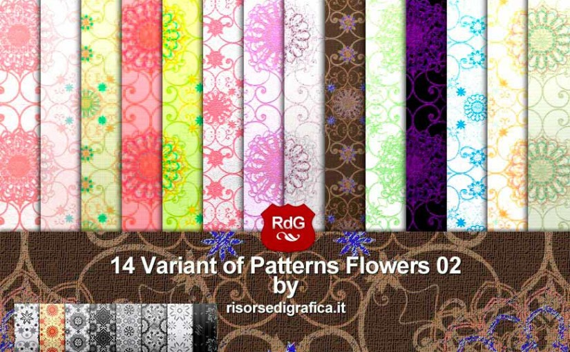 14 Patterns Flowers 02 V. n2
