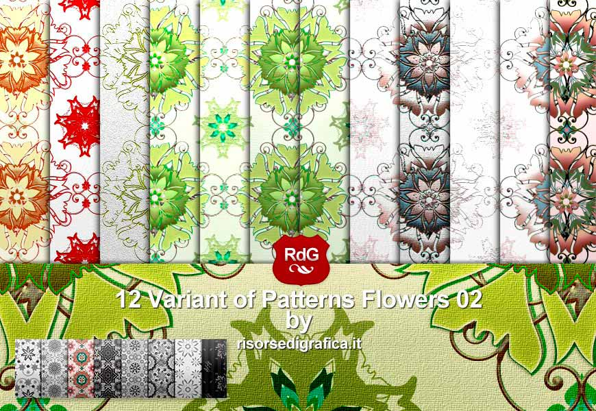 12 Flower Pattern 02 V. n3 – free photoshop pattern