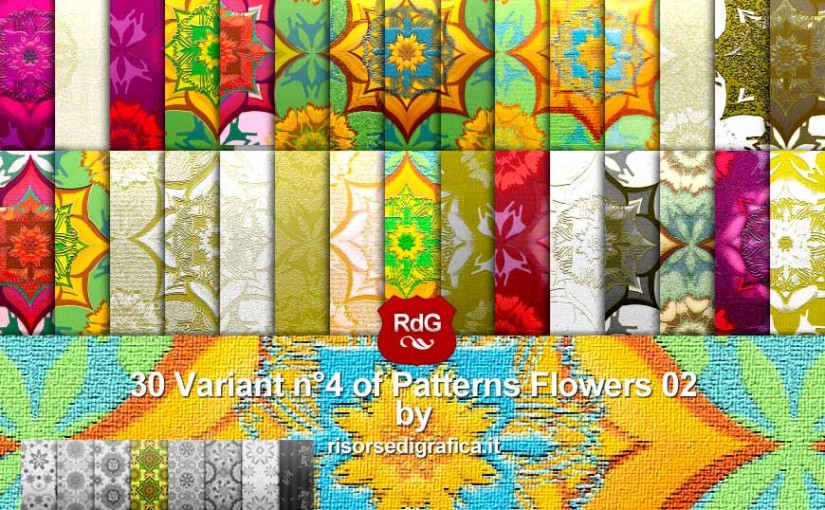 30 Patterns Floreali 02 V. n4 A e B – free photoshop pattern