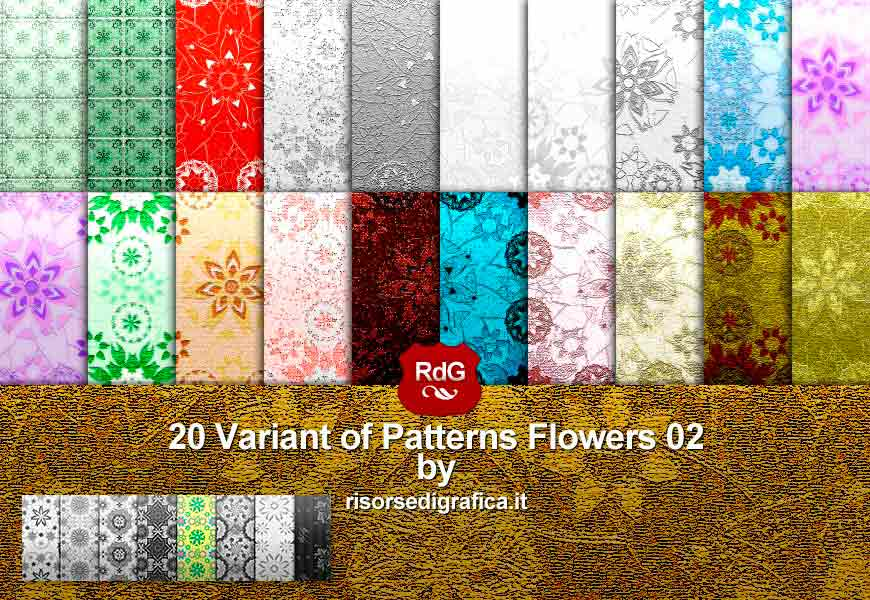 20 Patterns Flowers 02 V. n5 – photoshop pattern
