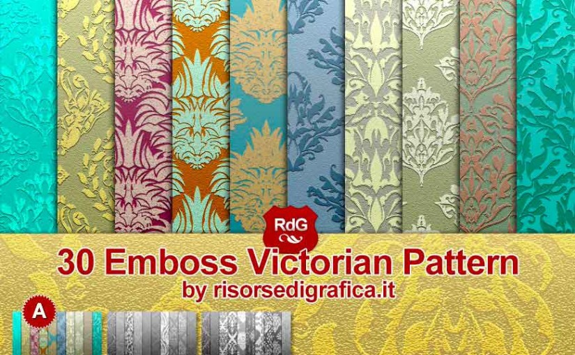 Emboss Victorian Pattern for Photoshop (A) – free photoshop pattern