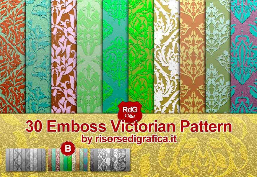 Emboss Victorian Pattern for Photoshop