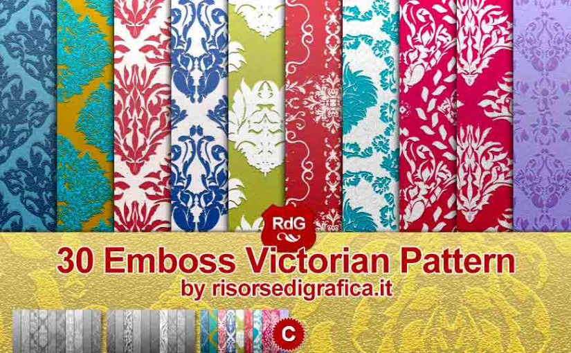 Emboss Victorian Pattern for Photoshop (C) – free photoshop pattern