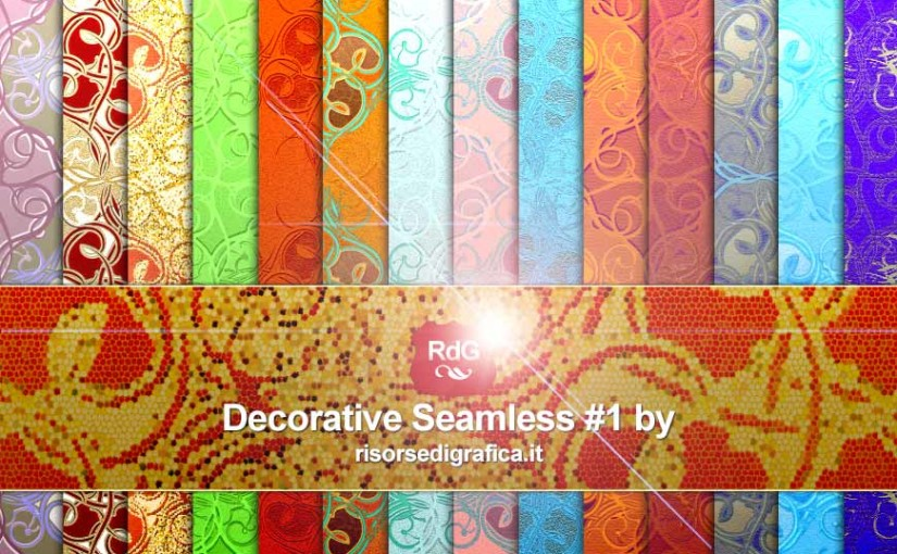 Decorative seamless #1 – Pattern for Photoshop – Free Download