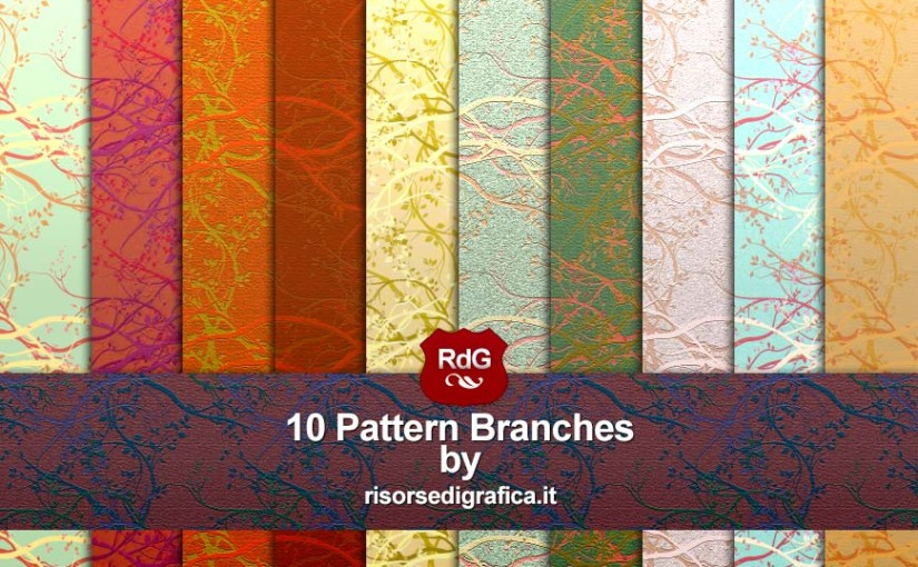 10 Pattern Branches – Pattern for Photoshop – Free Download
