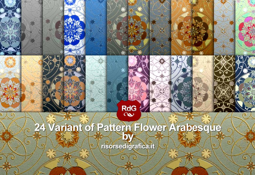 24 Variant of Pattern Flower Arabesque